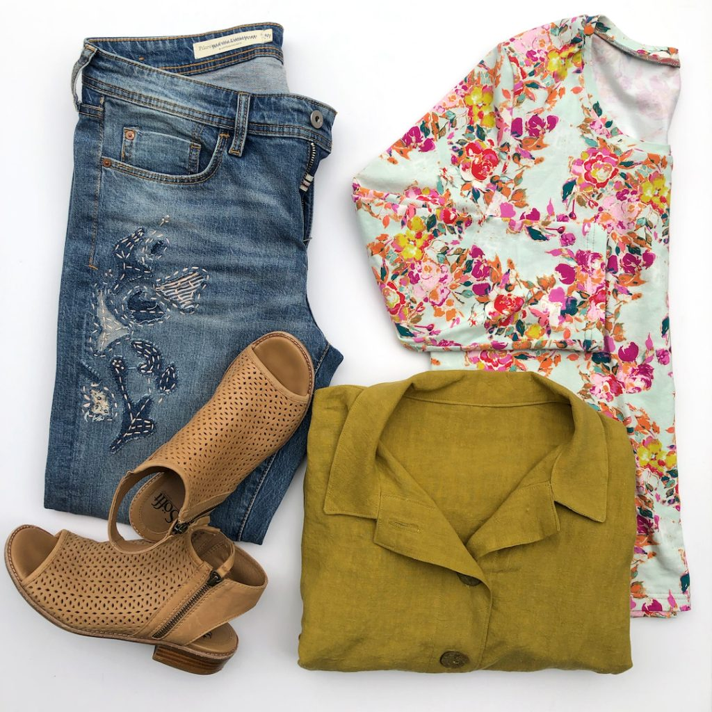 Spring Tour Outfit Flatlay   Style Maker Fabrics