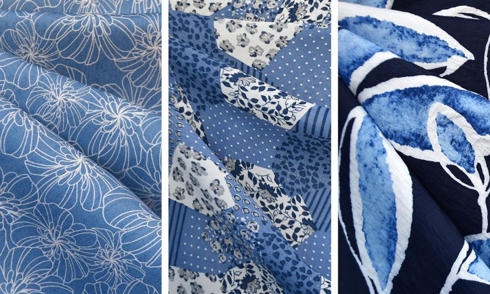 Style Maker Fabrics | Classic Blues Trend