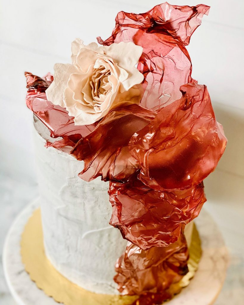 Sugar Work and Sugar Flower Details on Cake | Meet the Maker