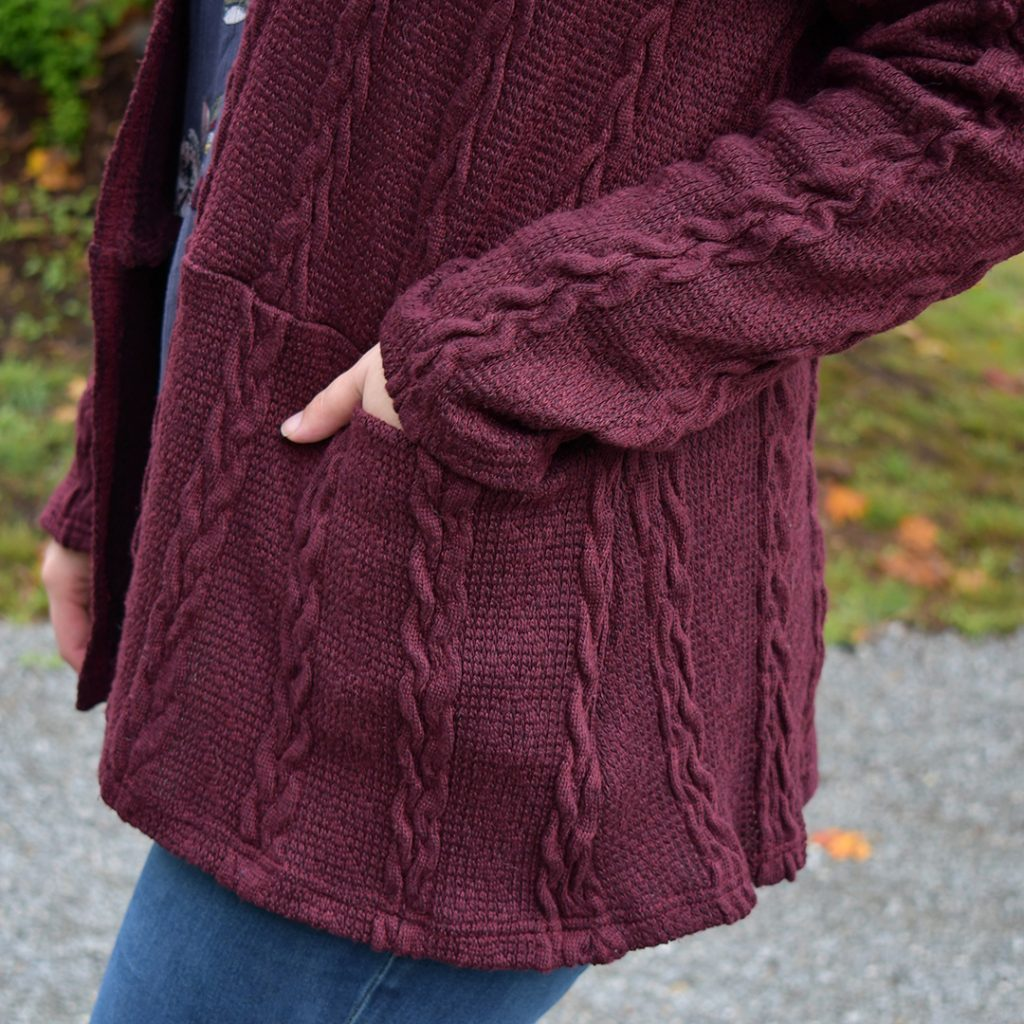 Cozy Helene Cardigan Pocket Detail | Style Maker Fabrics