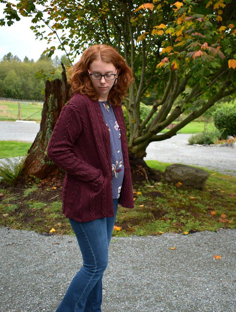 Cardigan + Blouse Fall Look | Style Maker Fabrics