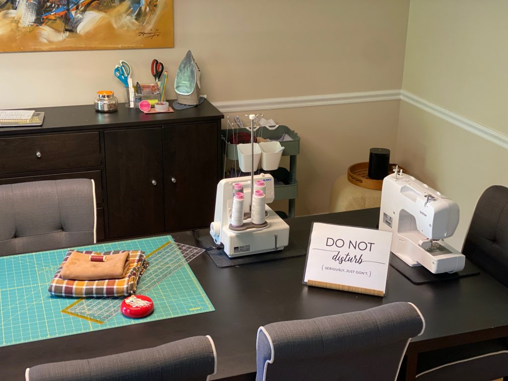 Dining Room Sewing Space