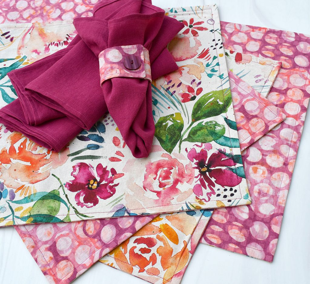Complete placemats, napkins, and napkin rings | Style Maker Fabrics