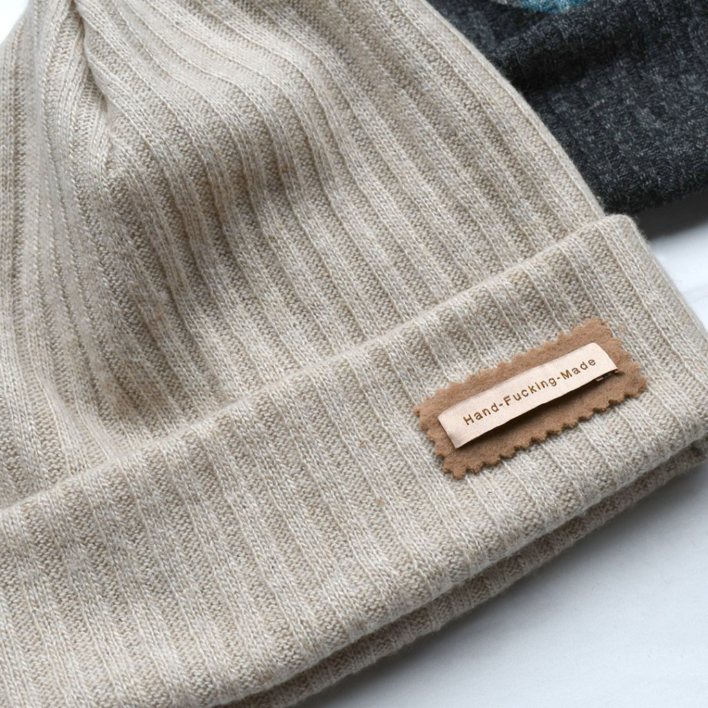 Woven Label Hat Detail | Style Maker Fabrics