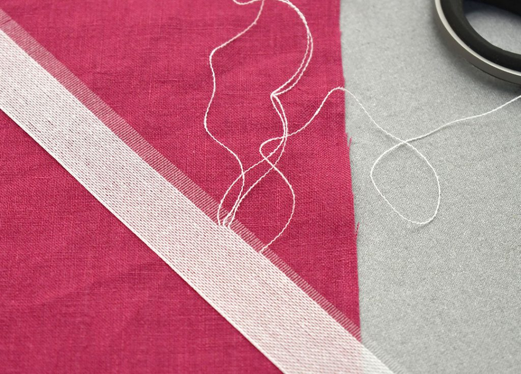 Fraying the edge of the Ban-Rol | Style Maker Fabrics