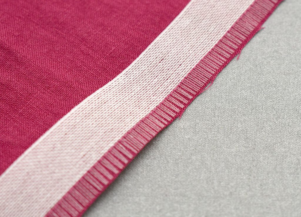 Stitching along the edge of the Ban-Rol | Style Maker Fabrics
