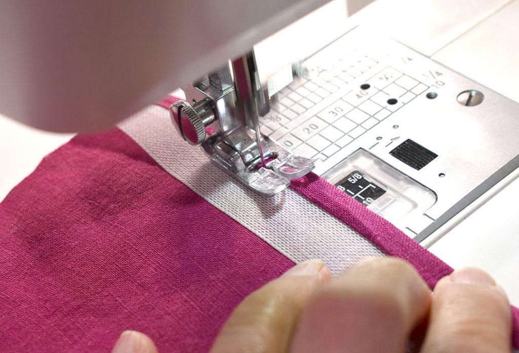 Stitching double folded hem in place | Style Maker Fabrics