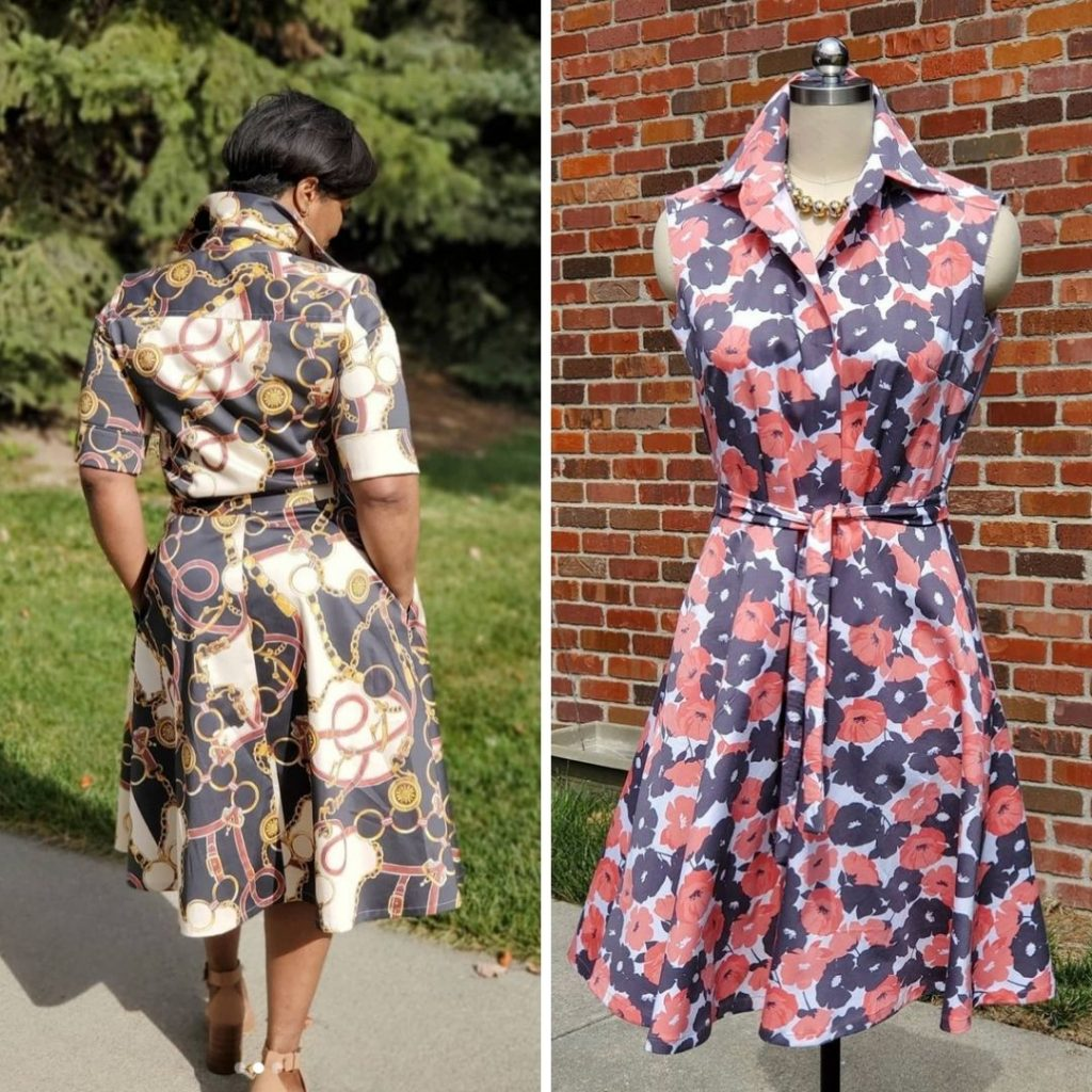 Two Handmade Shirt Dresses | Style Maker Fabrics